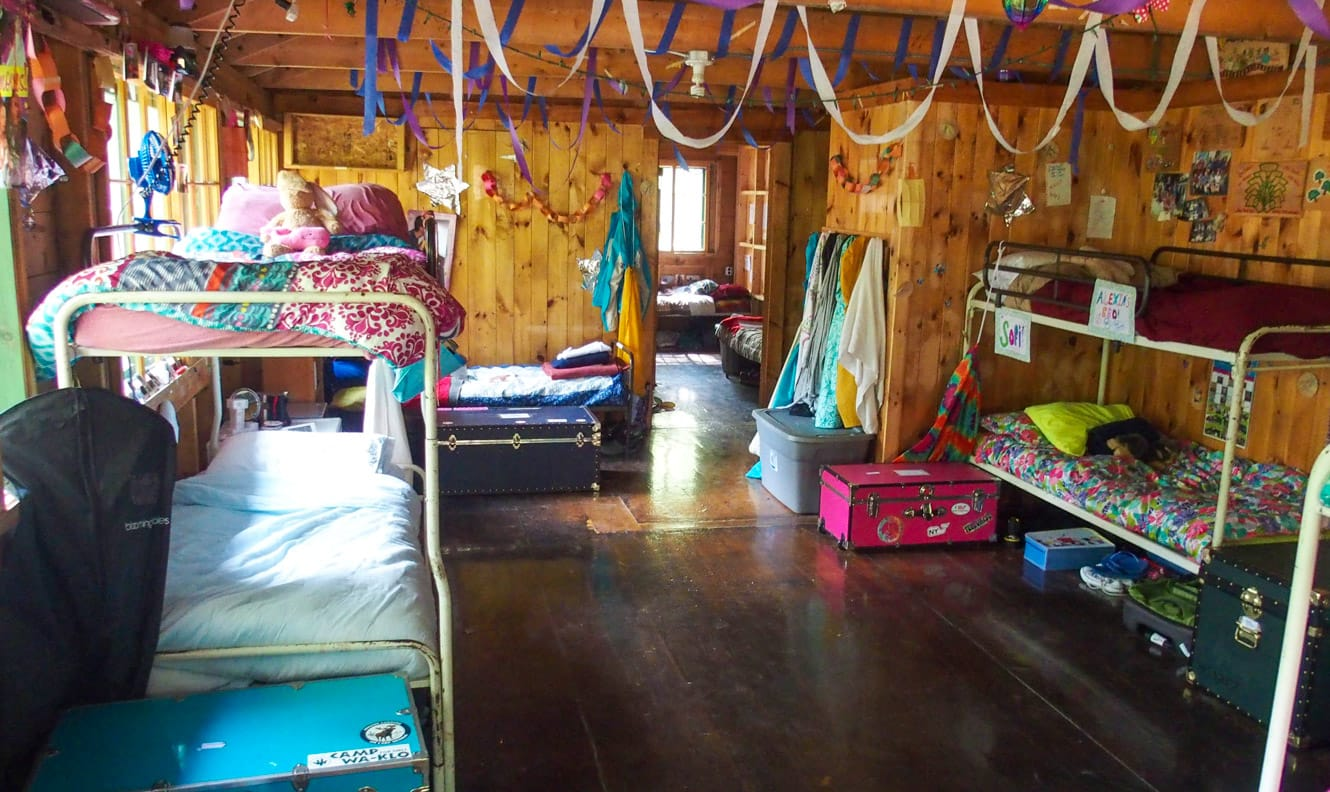 Interior of girls cabin