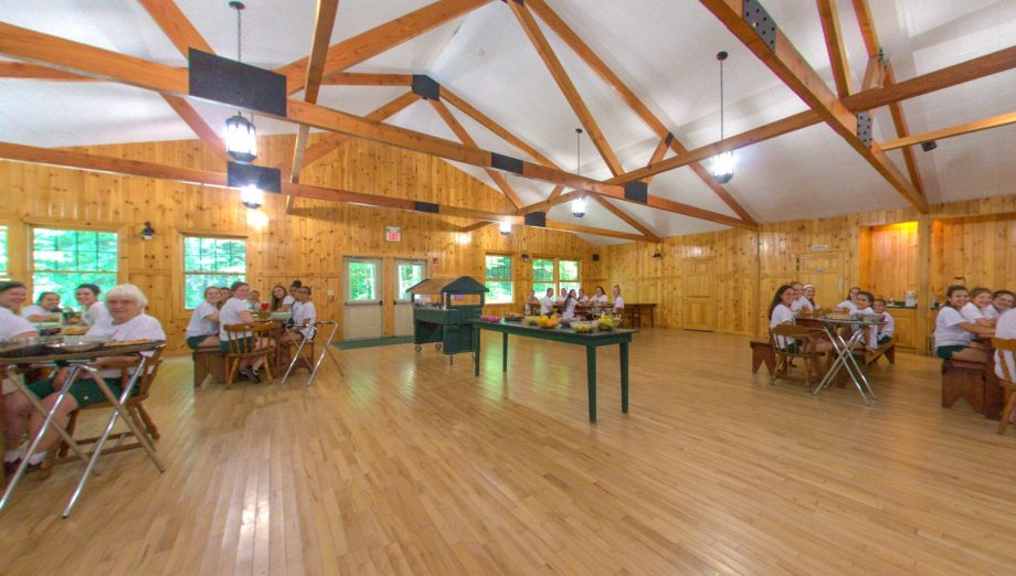Interior of dining hall at lunch time