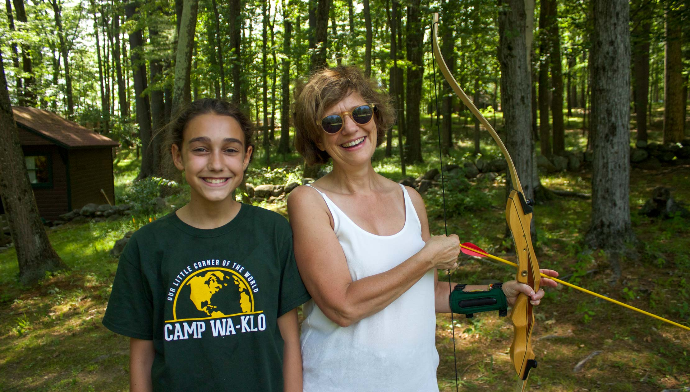 Mother and daughter at family camp