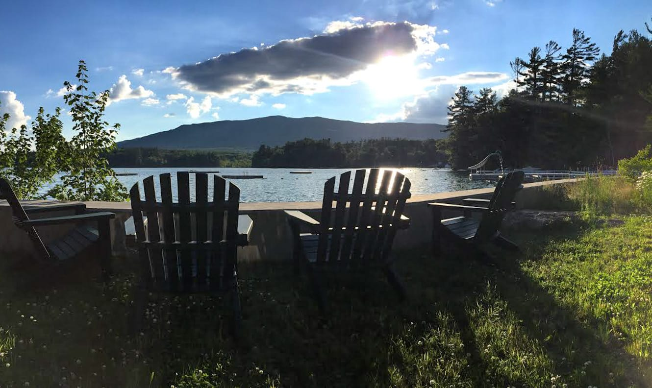 Chairs by the lake