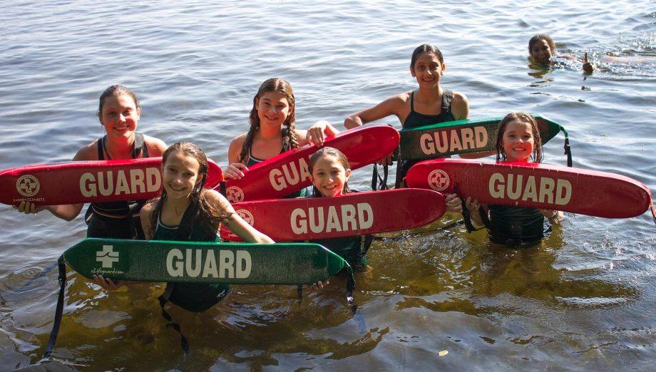 Girls learning lifeguarding